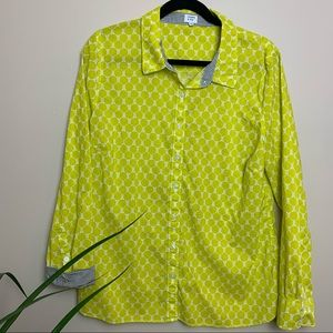 Xl crown and ivy patterned button down shirt